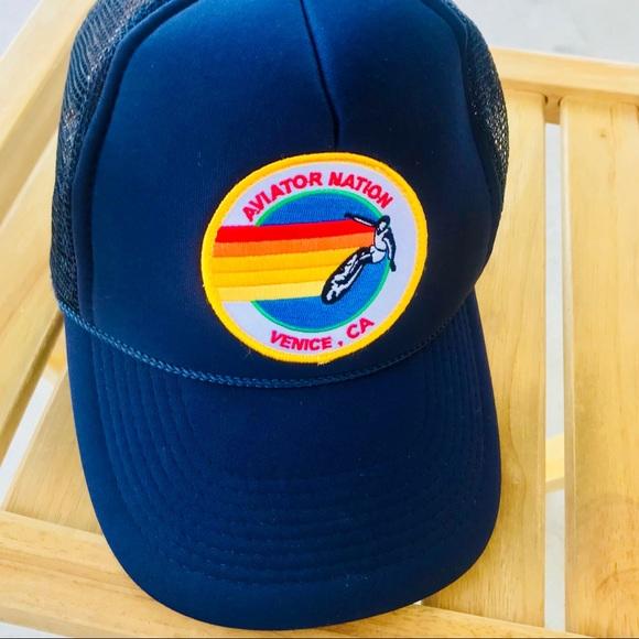 dc9de1934c7 Aviator Nation Other - Aviator Nation Signature Venice Retro Trucker Hat